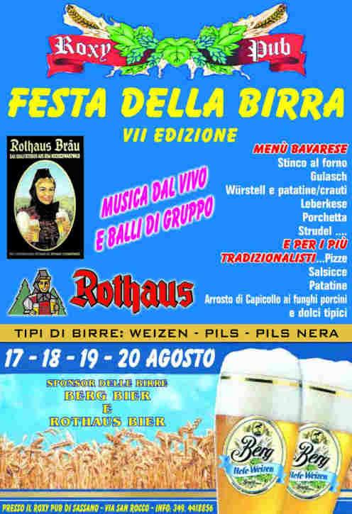 Festa della Birra al Roxy Pub Sassano'